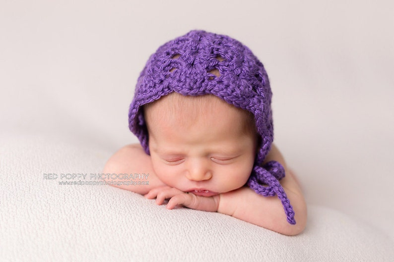 30625a4746c Pattern Crochet Newborn Baby Girl Open Shell Bonnet Hat