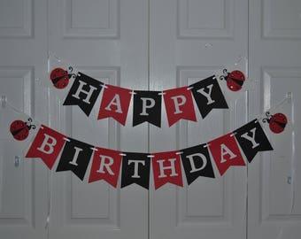 Ladybug Birthday Banner, Ladybug Happy Birthday Banner, Ladybug First Birthday, Ladybug Decorations, Ladybug Photo Prop, Ladybug Party