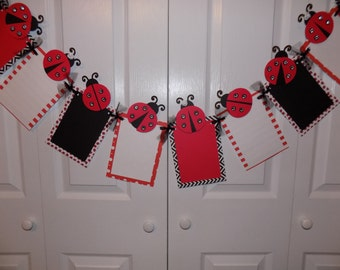 Ladybug Sparkle Photo Banner For Birthday Party First Parties And MORE