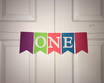 I am 1 Highchair Banner - I am One Banner - First Birthday - READY TO SHIP