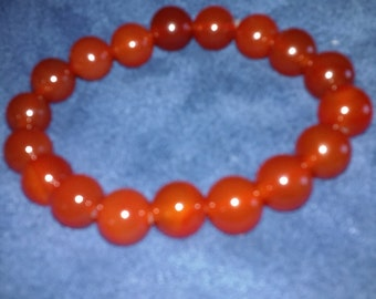 FREE SHIPPING Beautiful Red Agate Bracelet 10mm