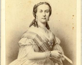 CDV Of Queen Maria Henriette Anne Austria Carte De Visite By Neurdein Paris