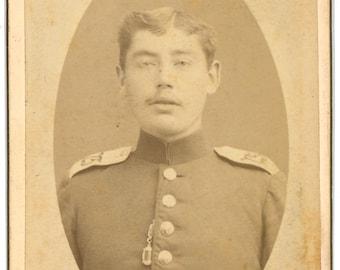 CDV of a man in military uniform. carte de visite. German.