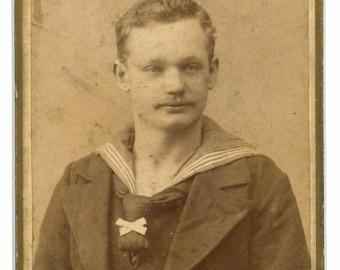 CDV of a sailor in uniform. carte de visite. German Navy