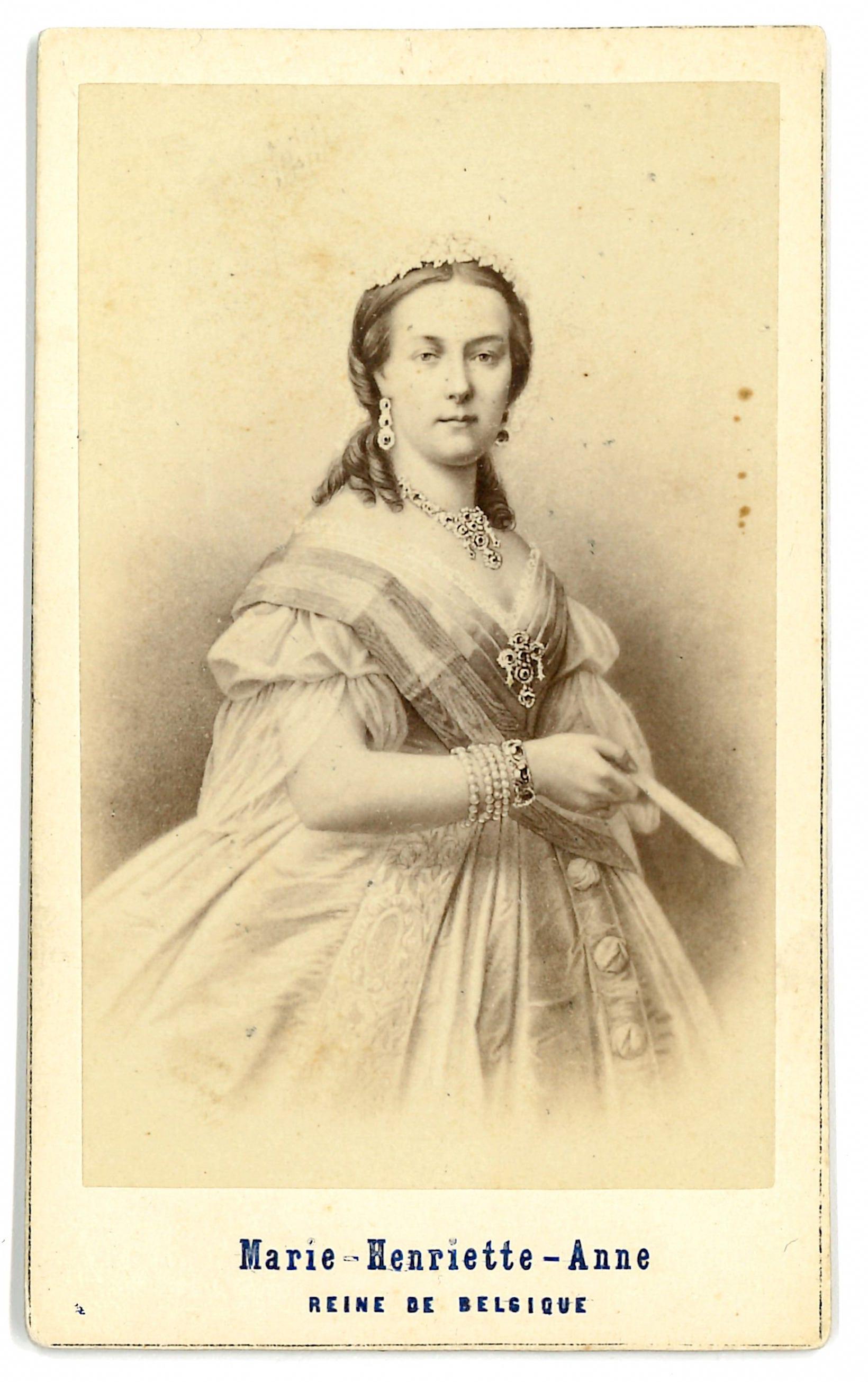 CDV Of Queen Maria Henriette Anne Austria Carte De Visite