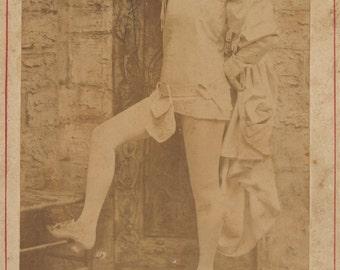 Cabinet Card- Flora Finlayson, Burlesque Performer