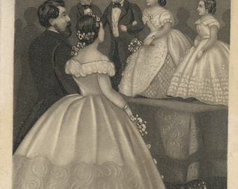 The Reception- illustration of the wedding reception of General Tom Thumb