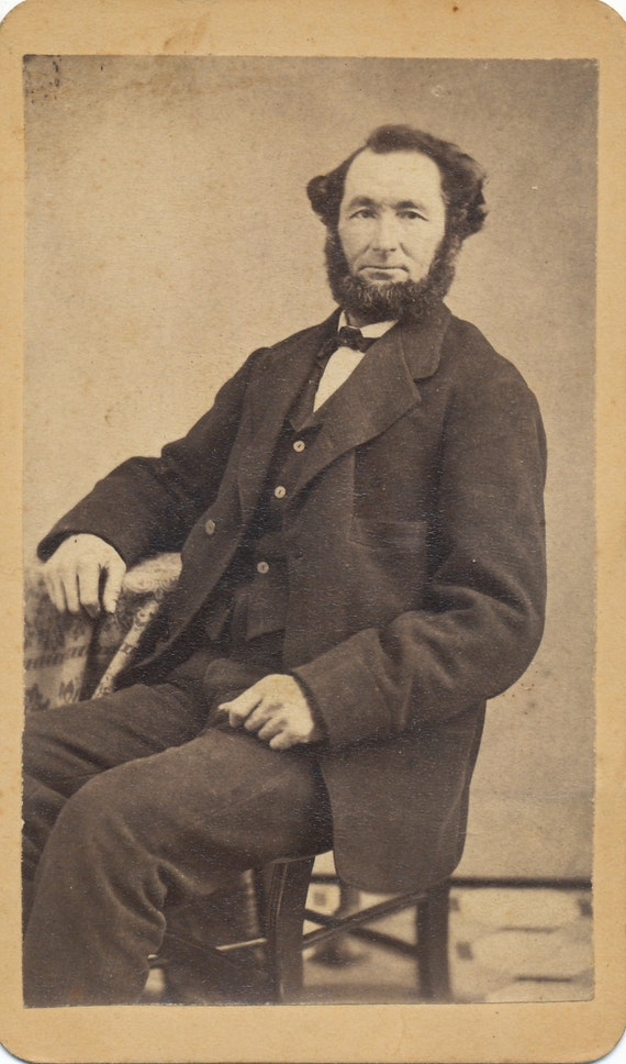CDV Of Well Dressed Bearded With A Beard But No Mustache
