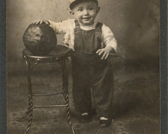 Cabinet card- Little boy with ball