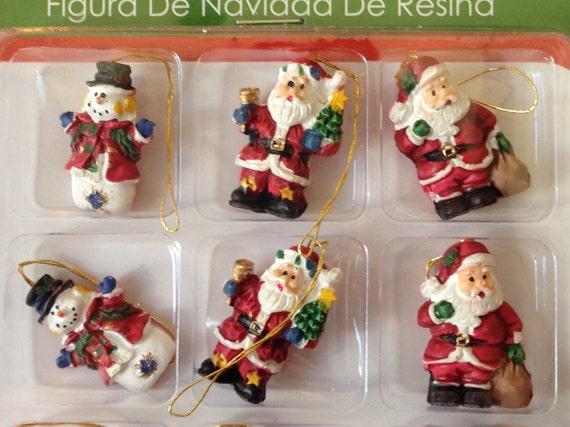 "Miniature Dollhouse Mini CHRISTMAS Tree ~ 12 1¼/"" Resin Sparkly Rustic Ornaments"