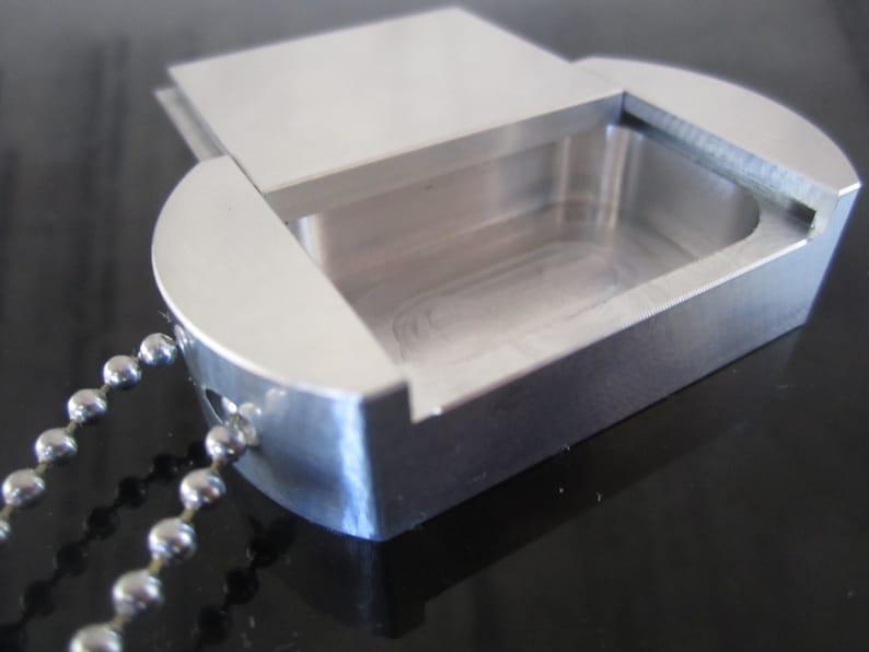 Dog Tag Pill Box Mil Spec Aluminum Side Opening