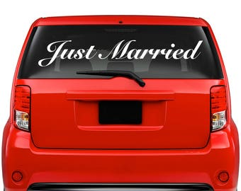 Just Married decal - Wedding Car Decal Sticker