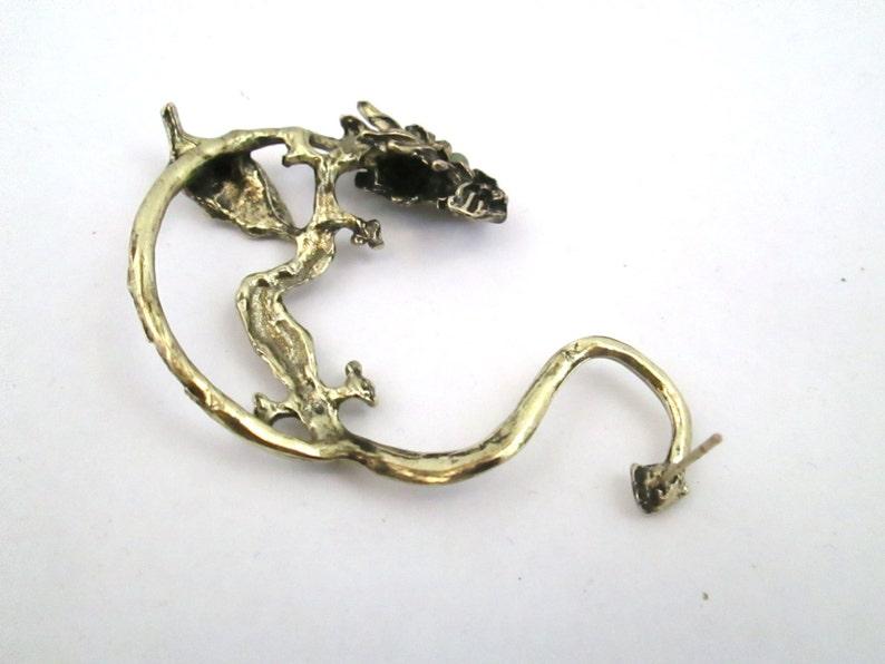 Magical Green glitter dragon ear cuff earring