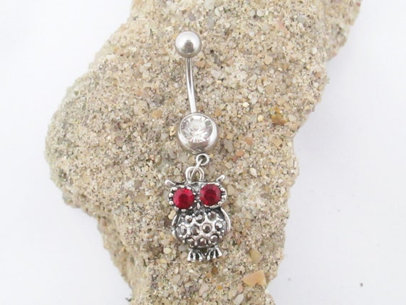 Owl Belly Button Ring Piercing