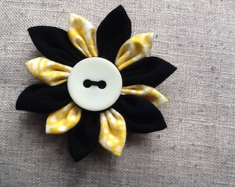 Handmade fabric flower brooch,pin,corsage fashion for hat,scarf,bag,coat