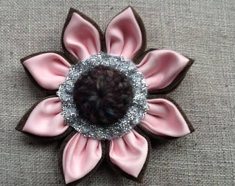 Handmade fabric flower brooch,pin,corsage fashion for hat,bag,scarf,coat