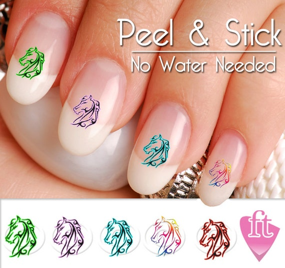 image 0 - Horse Tribal Mix Western Nail Art Decal Sticker Set HOR901 Etsy