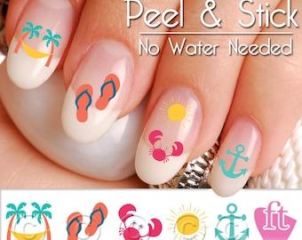 Summer Beach Fun Mix Nail Art Decal Sticker Set SUM906 - Crab Nail Art Decals