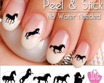 Horse Nail Art Decals - Western Horse Nail Art Decal Sticker Set HOR904