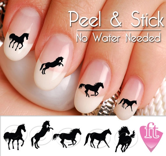 image 0 - Horse Nail Art Decals Western Horse Nail Art Decal Sticker Etsy