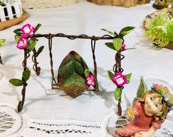 Kelsey With Swing Miniature Dollhouse FAIRY GARDEN Accessories