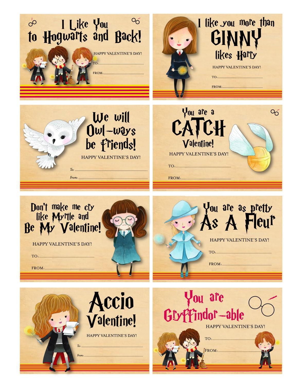 Harry Potter Valentines Harry Potter Valentinskarten süße