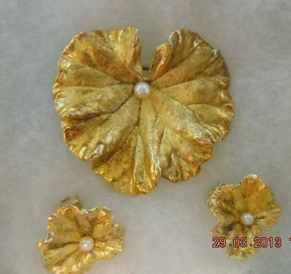 Lovely VINTAGE Napier Sterling Silver Stylized Organic Mid Century Leaf Brooch