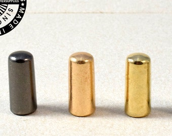 Metal End Tips, Cord end Tips, Hoodie End Tips Large. (1655)