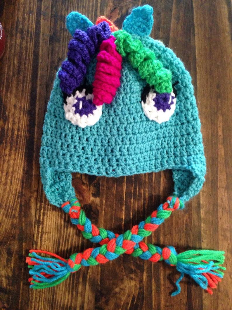 Rainbow Dash My Little Pony Crochet Hat Winter Hat Crochet Etsy