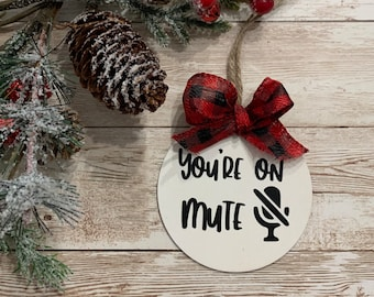 covid Wood slice ornaments promoted to homeschool mom Christmas 2020 funny ornaments