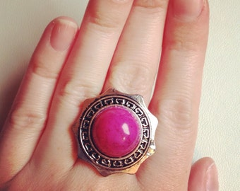 Pretty pink ring