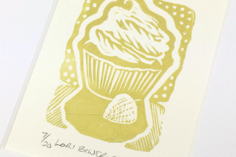 SALE Cupcake Sweet Kitchen Art Deserts Linocut | Etsy