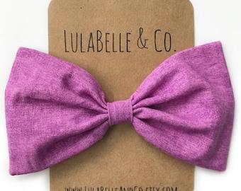 Grape Soda LulaBelle Bow // Purple // Berry // Purple Pink // Pastel