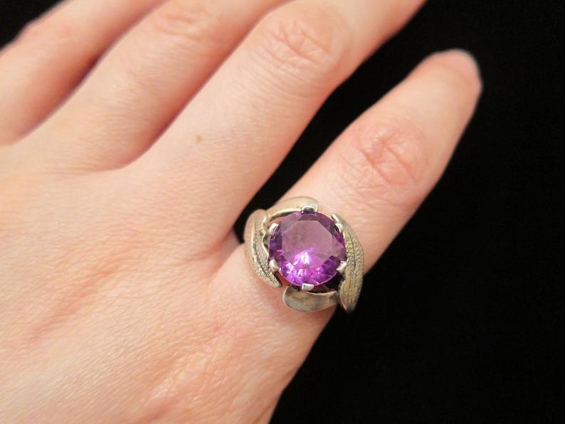 d464a57cbe1e Vintage Taxco México Plata púrpura Alejandrita piedra con