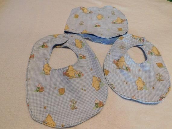 Winnie The Pooh Bib//Burp Cloth Gift Set//Create Your Own //Baby Shower Gift