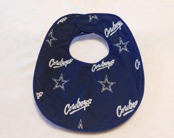 Baby bib featuring the Dallas Cowboys Football Team