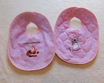 Mommy girls baby bib