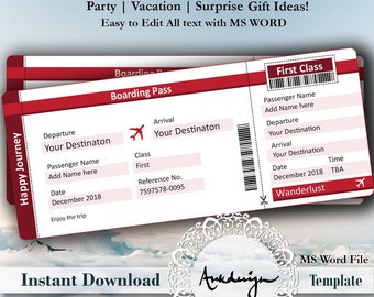 ticket template etsy