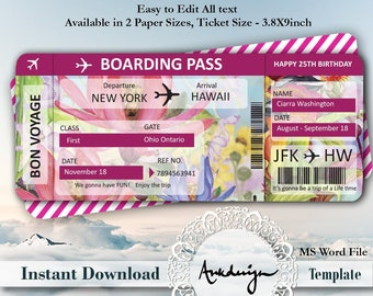 Airline ticket | Etsy