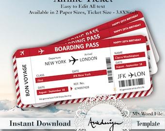 Fake ticket | Etsy