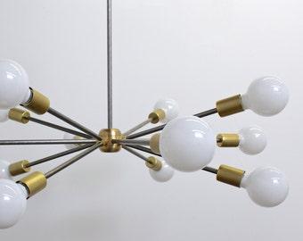 Midcentury Modern, industrial lighting, Sputnik Chandelier, hanging light fixture
