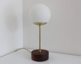 midcentury lamp, brass table lamp, modern desk lamp, industrial lighting