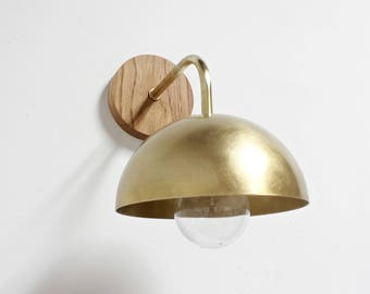 plug in wall sconce midcentury lighting brass wall lamp