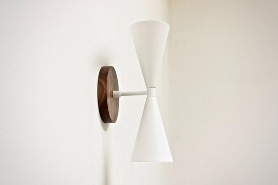 Mitte Jahrhundert Licht Im Bad Eitelkeit Lampe Weiß | Etsy