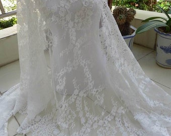 Off White Bridal Lace Fabric Gorgeous Evening gown Fabric Bridal Capelet Lace 3 Meters