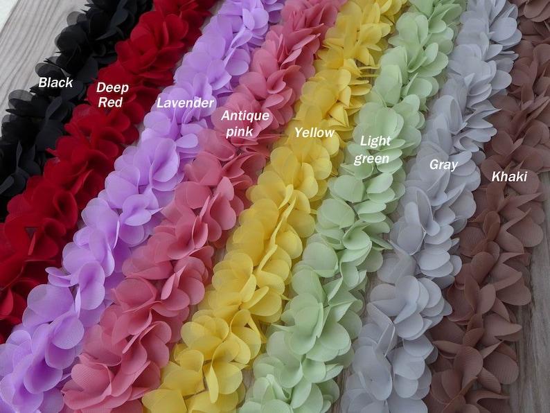 f6f69b8b9f7 9 Colors Soft Chiffon Lace Chiffon Petal Flower Trim