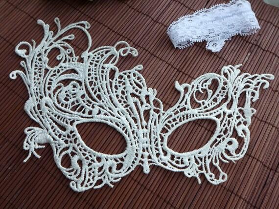 Vintage white lace mask halloween party mask venice lace etsy