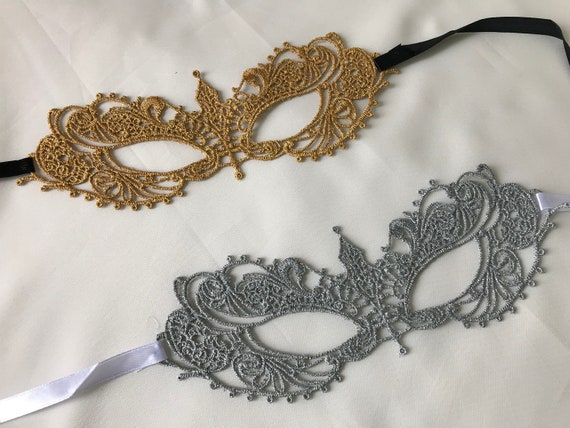 MASQUERADE maschera occhio Costume Nastro Cravatta Blu Occhi Maschera