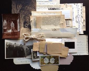 125+ Neutral toned paper ephemera pack