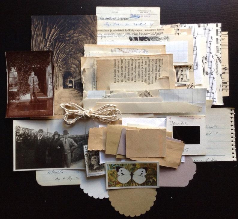 125 Neutral toned paper ephemera pack image 0